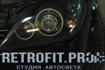 Nissan Primera (2001-2008) - Установка линз + Angel Eyes + Покраска фар