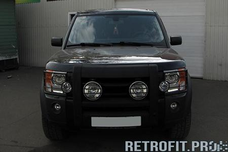 Land Rover Discovery (2004-2009) — установка ДХО Philips